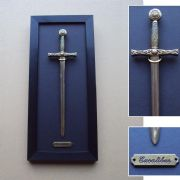 Excalibur Sword Letter Opener Framed Wall Display